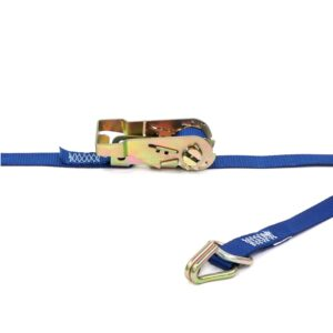 Kinedyne 1-in by 16-ft Heavy-Duty Wire Hook and D-Ring Ratchet Utility Strap 711681-45PK (2)