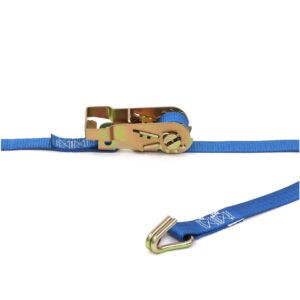 Kinedyne 1in by 12ft Heavy-Duty Wire Hook Ratchet Utility Strap K711281PK