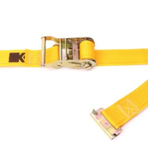 inedyne 2in by 12ft Spring Loaded Logistic Ratchet Strap K641201