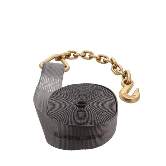 Kinedyne 3in by 30ft Rhino MAX 18in Chain Anchor Winch Strap K363040 (4)