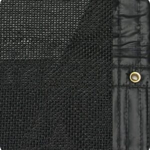Roll Rite 94-in x 28ft Super Tough Black Mesh Pleated Tarp RR86285