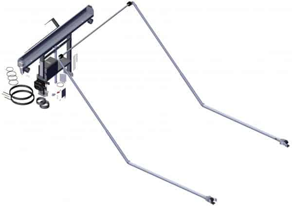 Roll Rite DC204, TM Single Stage Narrow Tower, 5 Spring 84-in Ext Pivot, 45-degree elbows, Wide Bow Set