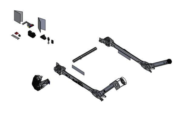 Roll Rite Electric Tarp System with Rear Arm Tarp Return RR1015781