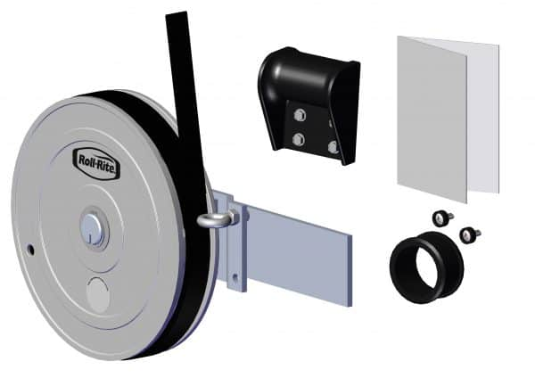 Roll Rite Tarp Return with Mounting Plate for Sheet and Post Trailers - 2-in axle RR38510