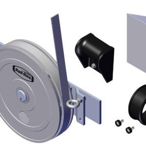 Roll Rite Tarp Return with Mounting Plate for Sheet and Post Trailers - 3-in axle RR38513