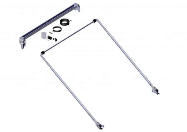 Roll Rite TarpMaster System with Wind Deflector and 84-in Pivots - 5 spring External Pivot RR65712