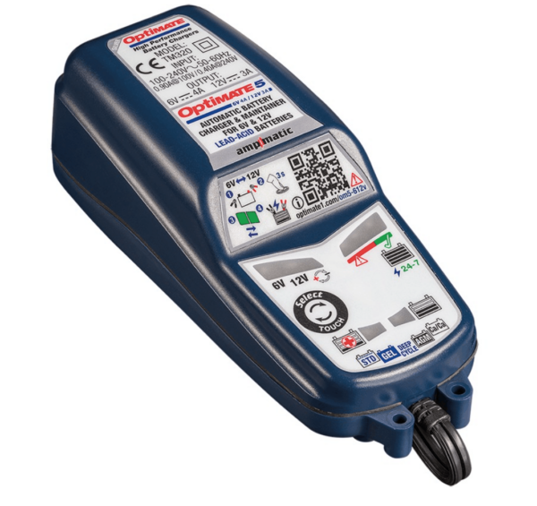 TecMate TM-321 - OptiMATE 5 Select 8-step 6V 4A : 12V 2.8A sealed battery saving charger and maintainer