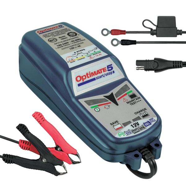 Tecmate OptiMATE 5 Start:Stop, TM-221, 6-step 12V 4A sealed battery saving charger and maintainer (2)