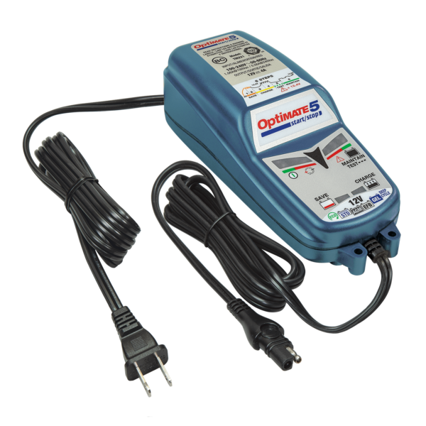 Tecmate OptiMATE 5 Start:Stop, TM-221, 6-step 12V 4A sealed battery saving charger and maintainer (5)