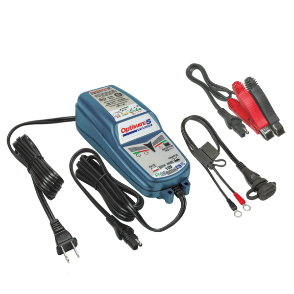 Tecmate OptiMATE 5 Start:Stop, TM-221, 6-step 12V 4A sealed battery saving charger and maintainer (6)