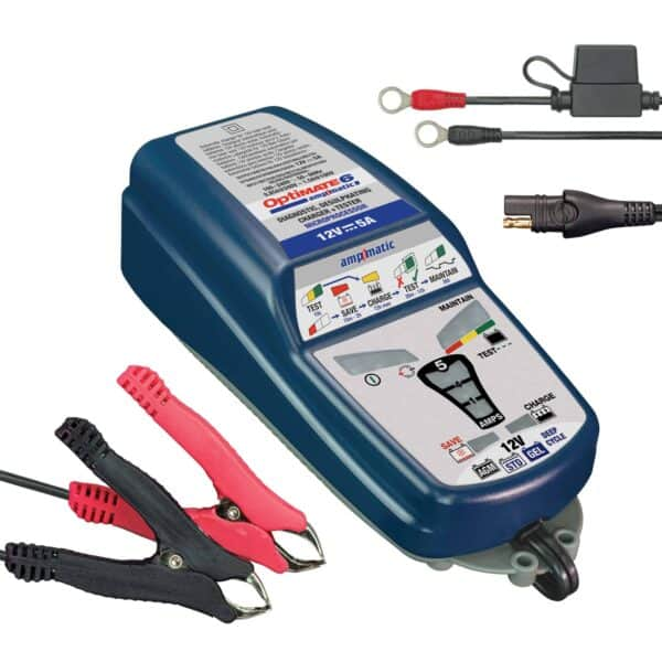 Tecmate OptiMATE 6 Ampmatic, TM-181, 9-step 12V 5A sealed battery saving charger & maintainer (3)