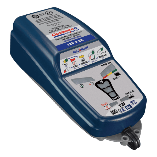 Tecmate OptiMATE 6 Ampmatic, TM-181, 9-step 12V 5A sealed battery saving charger & maintainer (4)