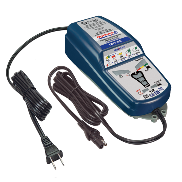 Tecmate OptiMATE 6 Ampmatic, TM-181, 9-step 12V 5A sealed battery saving charger & maintainer (5)