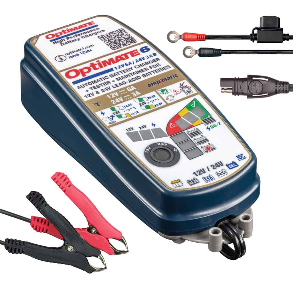 Tecmate OptiMATE 6 Battery Charger and Maintainer TM-381