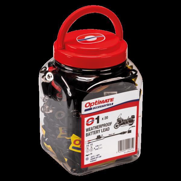 Tecmate OptiMATE CABLE O-01 JAR, Weatherproof battery lead, powersport, 20 x O-01 (1)