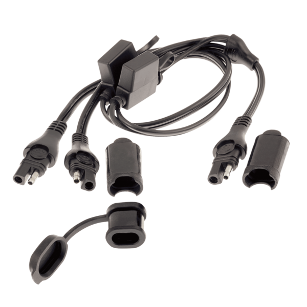 Tecmate OptiMATE CABLE O-05, Y-splitter, SAE in to 2 x fused SAE out