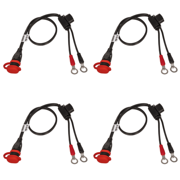 Tecmate OptiMATE CABLE O-11x4 PACK, Weatherproof battery lead, heavy duty:auto:marine. 4 X O-11 (1)