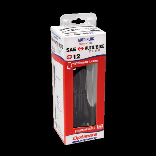 Tecmate OptiMATE CABLE O-12, Adapter, SAE to AUTO plug (3)