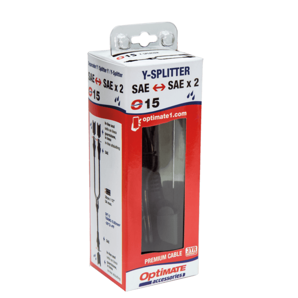 Tecmate OptiMATE CABLE O-15, Y-splitter, SAE IN to 2 x SAE OUT (3)