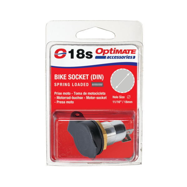 Tecmate OptiMATE CABLE O-18s, Bike Socket (DIN) Spring Loaded (6)