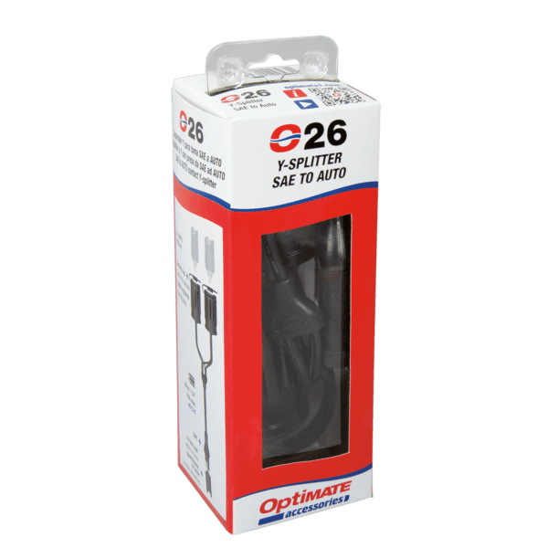 Tecmate OptiMATE CABLE O-26, Y-splitter, SAE in to 2 x AUTO socket out (3)