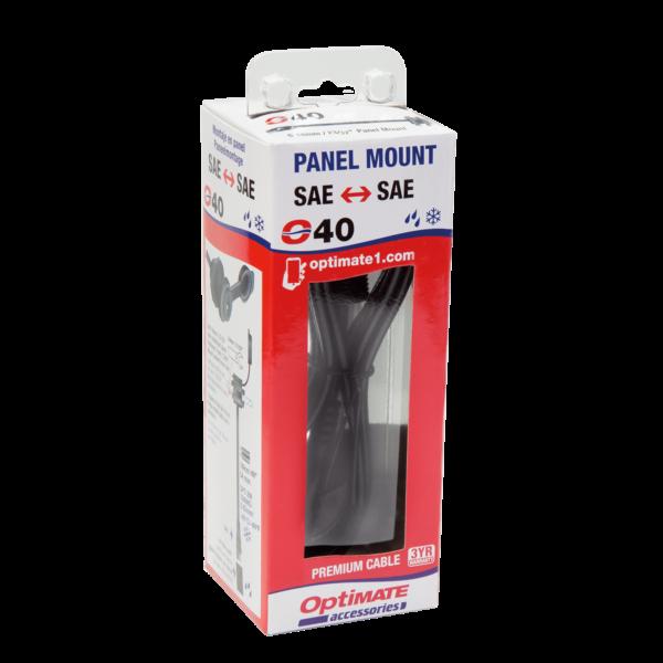 Tecmate OptiMATE CABLE O-40, Weatherproof SAE socket, panel mount - 40-in (3)