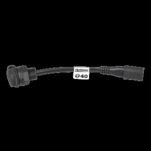Tecmate OptiMATE CABLE O-40s, Weatherproof SAE socket, panel mount - 6-in (1)