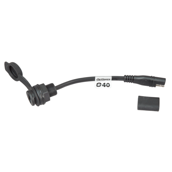 Tecmate OptiMATE CABLE O-40s, Weatherproof SAE socket, panel mount - 6-in (2)