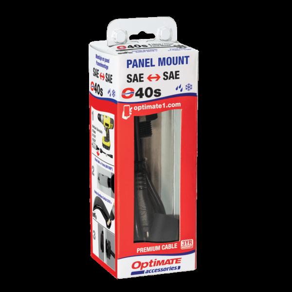 Tecmate OptiMATE CABLE O-40s, Weatherproof SAE socket, panel mount - 6-in (5)