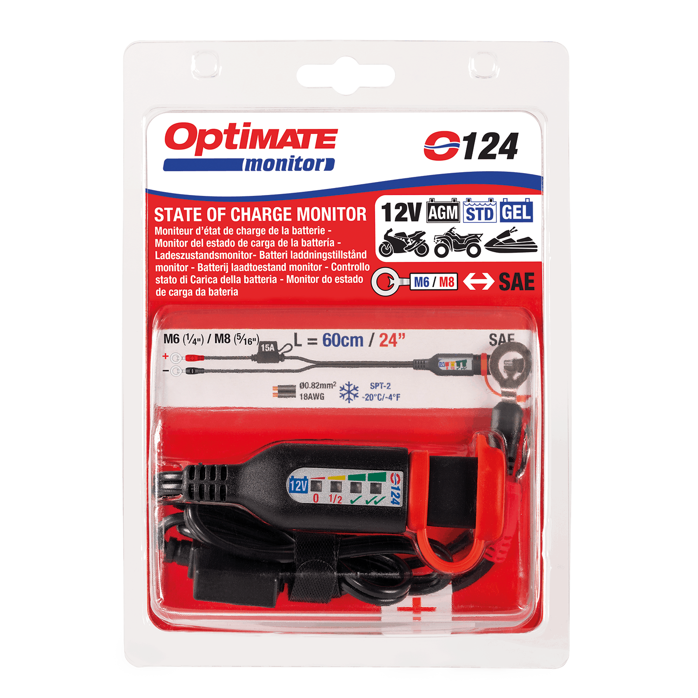 TecMate OptiMate Battery Monitor Lead 12V w//Integrated Battery Status O124