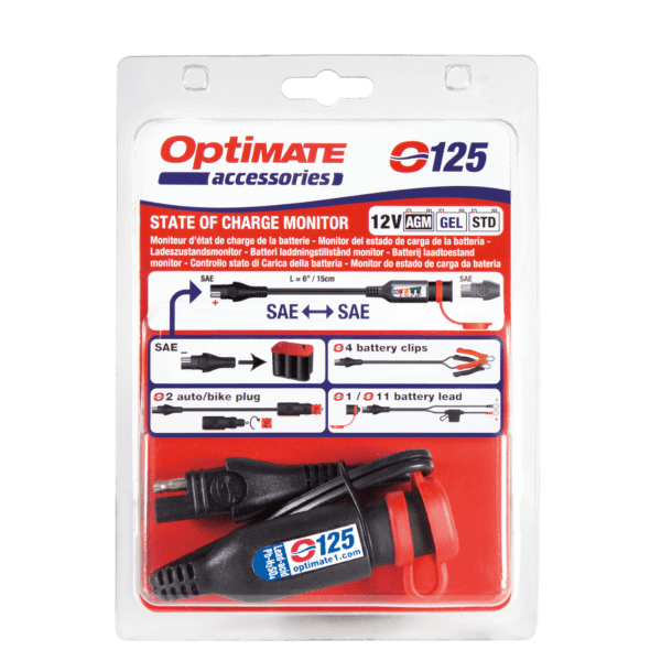 Tecmate OptiMATE MONITOR O-125, Battery status : charge system monitor for 12V lead-acid, with in-line SAE connect ability (4)