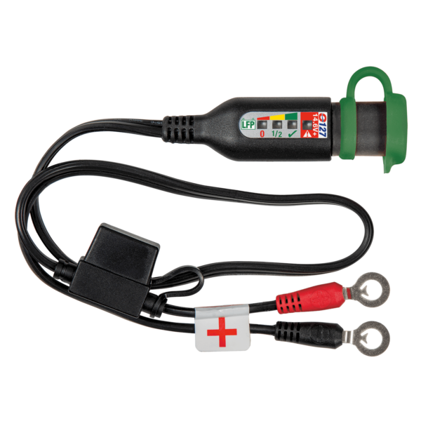 Tecmate OptiMATE MONITOR O-127, Permanent power sport battery lead with integrated battery status : charge system monitor for 12.8 : 13.2V lithium (1)