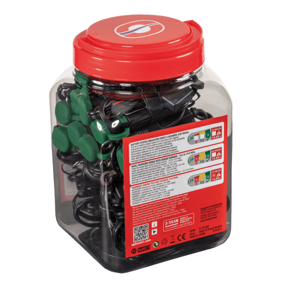 Tecmate OptiMATE MONITOR O-127JAR, Permanent power sport battery lead with integrated battery status : charge system monitor for 12.8 : 13.2V lithium (2)