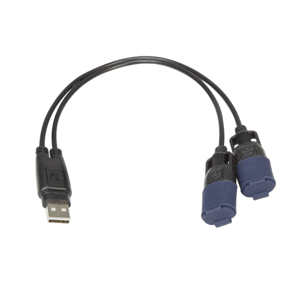 Tecmate OptiMATE USB CABLE O-110, USB Y-splitter, with weatherproof connection system (2)