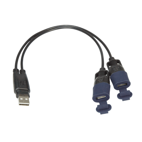 Tecmate OptiMATE USB CABLE O-110, USB Y-splitter, with weatherproof connection system (3)