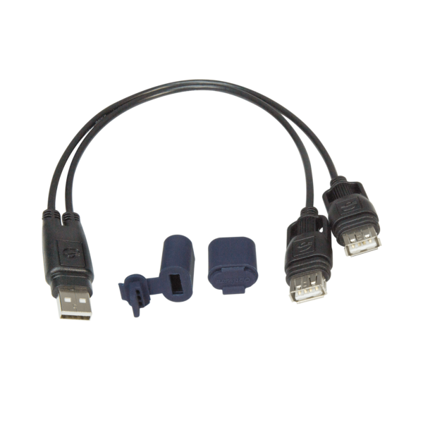 Tecmate OptiMATE USB CABLE O-110, USB Y-splitter, with weatherproof connection system (4)