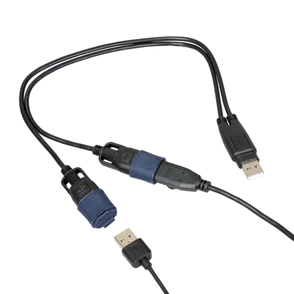 Tecmate OptiMATE USB CABLE O-110, USB Y-splitter, with weatherproof connection system (6)