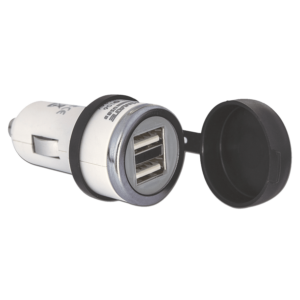 Tecmate OptiMATE USB O-106, 3300mA dual output USB charger, with AUTO plug (1)