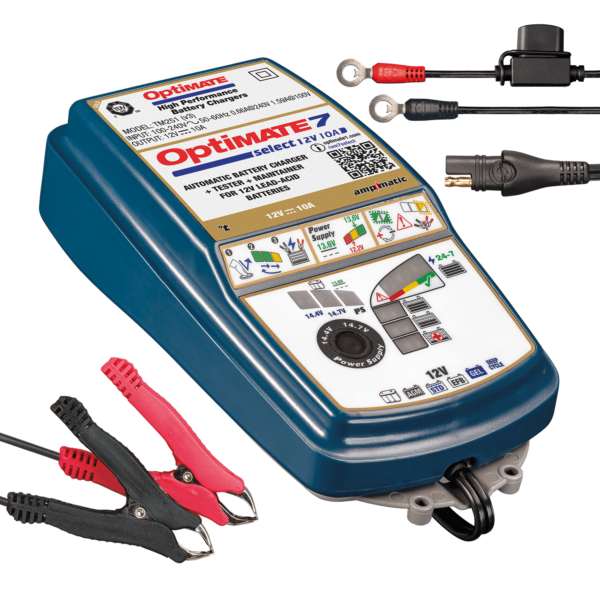 Tecmate TM-251 OptiMATE 7 SELECT, 9-step 12V 10A sealed battery saving charger and maintainer (4)
