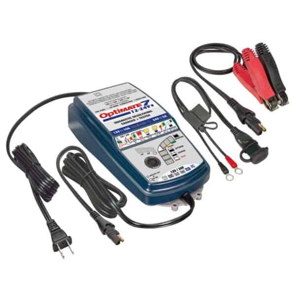 Tecmate TM-261 OptiMATE 7 12V:24V, 8-step 12V 10A : 24V 5A sealed battery saving charger and maintainer