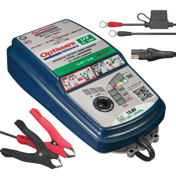 Tecmate TM-275 OptiMATE Lithium 4s 10A, 10-step 12.8V 10A sealed battery saving charger and maintainer