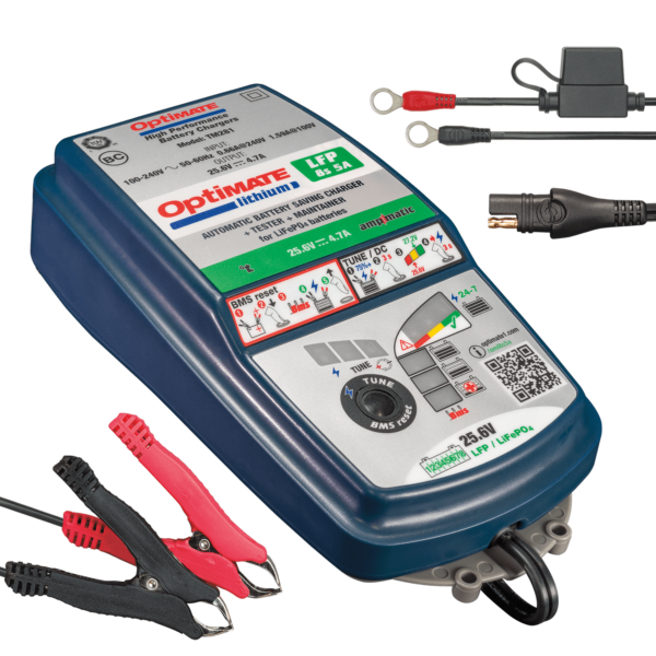 Tecmate TM-281 OptiMATE Lithium 8s 5A, 10-step 25.6V 5A sealed battery saving charger and maintainer