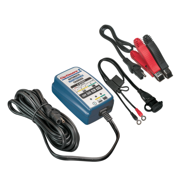 Tecmate TM-401 OptiMATE 1, 4-step 12V 0.6A battery charger and maintainer
