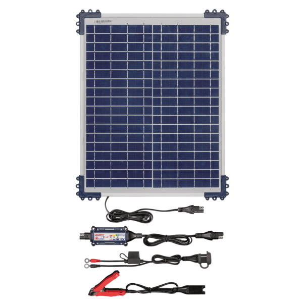 Tecmate TM-522-2 OptiMATE Solar 20W, 6-step 12V 1.66A sealed solar battery saving charger and maintainer