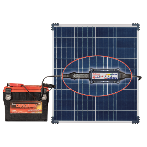 Tecmate TM-523-8 OptiMATE Solar 80W, 6-step 12V 6.66A sealed solar battery saving charger and maintainer (5)