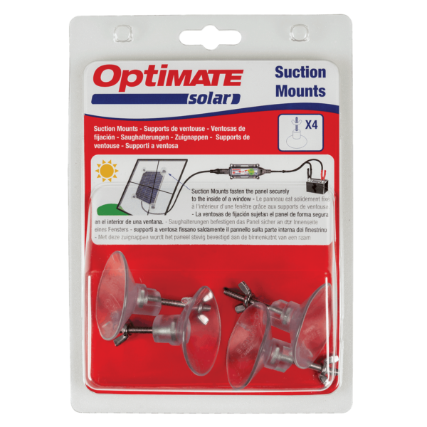 Tecmate TM-TS-253 OptiMate Solar Suction Mounts (X4) (9)