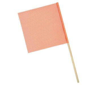 OWPI Dowel Warning Flag, 3:4-in diameter, orange, size 18-in OF10222