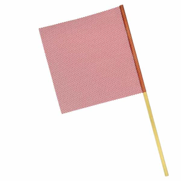 OWPI Dowel Warning Flag, 3:4-in diameter, red, size 18-in OF10122