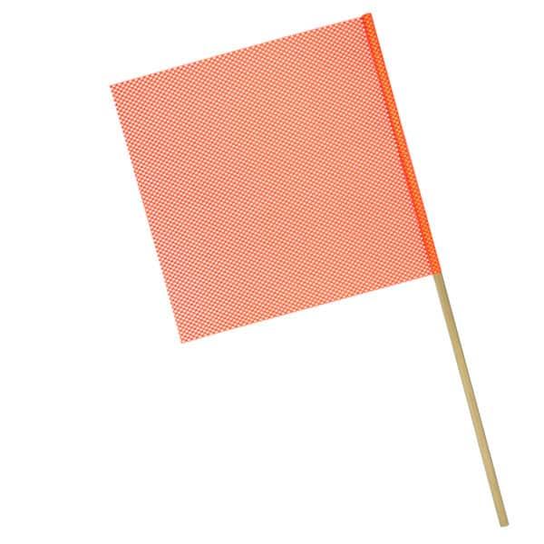 OWPI Dowel Warning Flag, 5:8-in diameter, orange, size 18-in OF10224