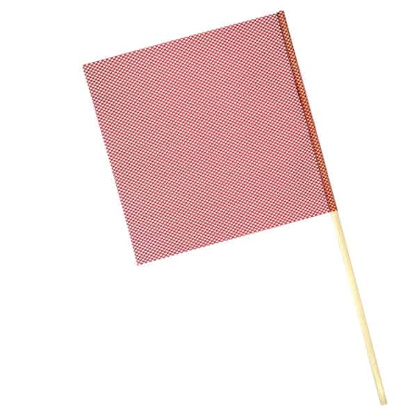 OWPI Dowel Warning Flag, 5:8-in diameter, red, size 18-in OF10124
